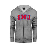 ENZA Ladies Grey Fleece Full Zip Hoodie-Block SMU