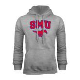 Grey Fleece Hood-SMU w/Mustang