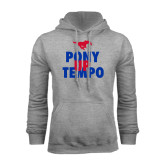Grey Fleece Hoodie-Pony Up Tempo Stacked