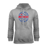 Grey Fleece Hoodie-Mustangs Basketball Lined Ball