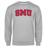 Grey Fleece Crew-Block SMU