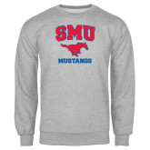 Grey Fleece Crew-Stacked SMU w/Mustang
