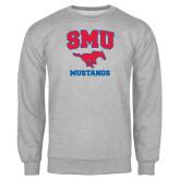 Grey Fleece Crew-Stacked SMU w/Mustang