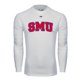 Under Armour White Long Sleeve Tech Tee-Block SMU
