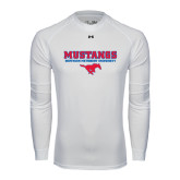 Under Armour White Long Sleeve Tech Tee-Stacked Mustangs w/ Pony