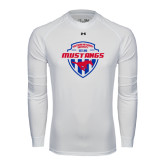 Under Armour White Long Sleeve Tech Tee-Mustangs in Shield
