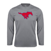 Performance Steel Longsleeve Shirt-Official Outlined Logo