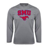 Performance Steel Longsleeve Shirt-SMU w/Mustang