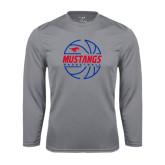 Syntrel Performance Steel Longsleeve Shirt-Mustangs Basketball Lined Ball