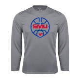 Syntrel Performance Steel Longsleeve Shirt-SMU Basketball Block Stacked in Circle