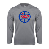 Syntrel Performance Steel Longsleeve Shirt-SMU Basketball Block in Circle