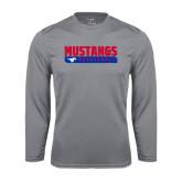 Syntrel Performance Steel Longsleeve Shirt-Mustangs Basketball Stacked Bar
