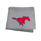 Grey Sweatshirt Blanket-Official Outlined Logo