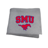 Grey Sweatshirt Blanket-SMU w/Mustang