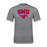 Performance Grey Concrete Tee-SMU w/Mustang