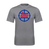 Syntrel Performance Steel Tee-SMU Basketball Block in Circle