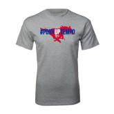Grey T Shirt-#PonyUpTempo Flat
