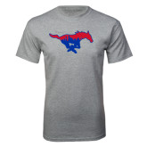 Grey T Shirt-Dallas Skyline Logo
