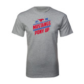 Grey T Shirt-Mustangs Pony Up
