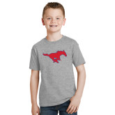 Youth Grey T-Shirt-Official Outlined Logo