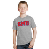 Youth Grey T-Shirt-Block SMU