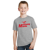 Youth Grey T-Shirt-Mustang Mania