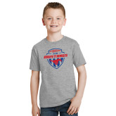 Youth Grey T-Shirt-Mustangs in Shield