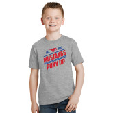 Youth Grey T-Shirt-Mustangs Pony Up