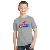Youth Grey T-Shirt-Go Red Go Blue Go SMU