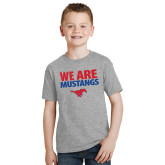 Youth Grey T-Shirt-We Are Mustangs