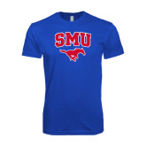Next Level SoftStyle Royal T Shirt-SMU w/Mustang