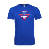 Next Level SoftStyle Royal T Shirt-Mustangs in Shield