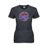 Ladies Dark Heather T Shirt-Mustang Pride