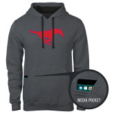 Contemporary Sofspun Charcoal Heather Hoodie-Official Outlined Logo
