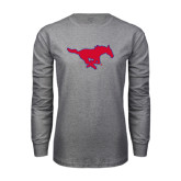 Grey Long Sleeve T Shirt-Official Outlined Logo