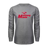 Grey Long Sleeve T Shirt-Mustang Mania