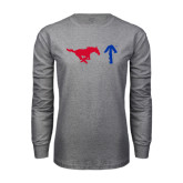 Grey Long Sleeve T Shirt-Pony Up