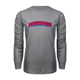 Grey Long Sleeve T Shirt-Arched Mustangs