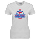 Ladies White T Shirt-2017 AAC Conference Champions - Mens Basketball Banners