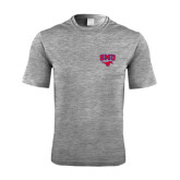 Performance Grey Heather Contender Tee-SMU w/Mustang