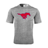 Performance Grey Heather Contender Tee-Official Outlined Logo