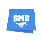 Light Blue Sweatshirt Blanket-SMU w/Mustang