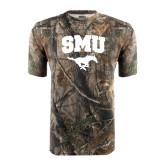 Realtree Camo T Shirt-SMU w/Mustang