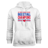 White Fleece Hoodie-2017 AAC Regular Season Mens Basketball Champions Stacked