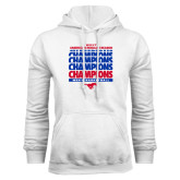 White Fleece Hoodie-2017 AAC Regular Season Champions Repeating - Mens Basketball