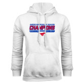 White Fleece Hoodie-2017 AAC Regular Season Champions - Mens Basketball Stencil