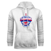 White Fleece Hoodie-2017 AAC Conference Champions - Mens Basketball Arched Shadow
