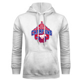 White Fleece Hoodie-2017 AAC Conference Champions - Mens Basketball Arched Net
