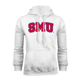 White Fleece Hood-Block SMU
