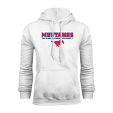 White Fleece Hoodie-Stacked Mustangs w/ Pony